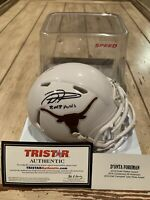 D'onta Foreman Autographed/Signed Mini Helmet TRISTAR Texas Longhorns C