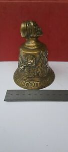 """Rare Antique Bronze/ Brass 19thC """"Hemony"""" Style Hand Bell Natural Condition."""