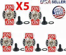 5X Toggle SWITCH ON/OFF/ON Heavy Duty 20A 125V SPDT 3 Terminal Car Waterproof
