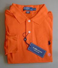 NWT $90 POLO RALPH LAUREN Mens XXL CLASSIC FIT MESH Orange Cotton Shirt