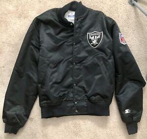 Vintage 80s Authentic Oakland Raiders NFL Pro Line Starter Jacket LG Las Vegas