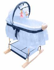 Best For Kids Stubenwagen Babywiege Beistellbett Musik Vibration Baby Wiege Blau