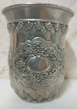 Silver Water Cup Plate vintage Cup Mug Plated French Art Deco Decorated Cups