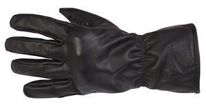 Spada Patriot Leather Motorcycle Gloves Black