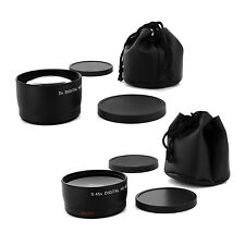 Wide + Tele Lens kit for Canon Eos Digital Rebel T5 6 sl1 XTi w/18-55 STM 40mm
