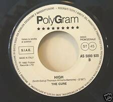 """THE CURE """"HIGH"""" 7' Italy promo w/label mint"""