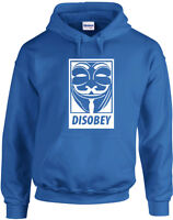 Disobey - Mask Guy Fawkes - V for Vendetta - Top Design Unisex Printed Hoodie