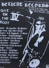 GIVE 'EM THE BOOT IV POSTER, HELLCAT RECORDS (H4)