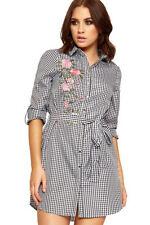 Check Regular Size Shirt Dresses