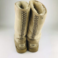 UGG Revival Ultra Tall Boot Tasman Braid Sand Suede Women's Size 7 #5245