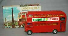 Vintage NFIC 3054 Routemaster Double Decker Bus, Friction Drive, Boxed, c 1960's