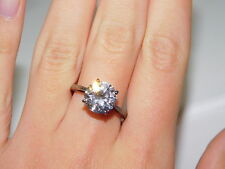 7.25 Engagement Solitaite Ring 5g 28 925 Sterling Silver Large Round Cz size