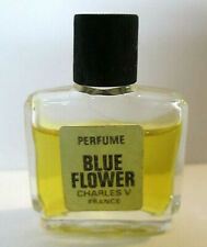 Vintage Blue Flower Charles V France Miniature Perfume Collectible Bottle Niche