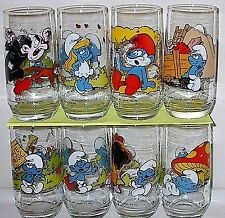 Complete Vintage 1982 Smurfs Set from Hardees by Peyo in Mint Condition