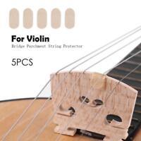 5pc/set Bridge Parchment String Protectors for E String Violin Viola Accessories