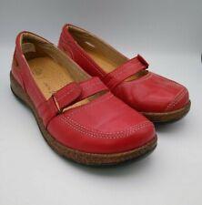 Airsoft tamaño 5, 6 Rojo Comodidad Cuero Cordones Casuales Zapatos Planos PVP £ 75