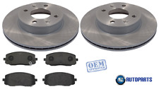For Kia - Picanto 2004-2010 1.0 1.1 Front 241mm Brake Discs & Pads Set