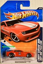 HOT WHEELS 2011 NIGHTBURNERZ CHEVY CAMARO 2010 INDY 500 PACE CAR #3/10 RED