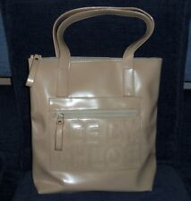 Vintage SEE BY CHLOE Shoulder Hand Bag Cream Beige PATENT Leather Authentic