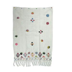 Anthropologie Embroidered Dish Hand Towel Bohemian