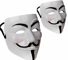 White Jokers Masquerade Mask Vendetta Anonymous Fancy Dress