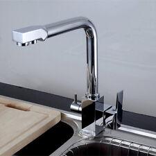 Lavello da cucina 3 Vie Girevole Beccuccio PURO rubinetto dell'acqua potabile Filtro nave rubinetto