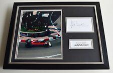 Jody Scheckter SIGNED FRAMED Photo Autograph 16x12 display Formula One F1 AFTAL