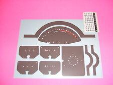 1940 1941 1942 1946  chevy truck gauges speedometer decals clock too