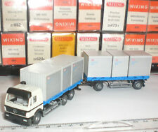 WIKING SEMI-REMORQUE 574 02 36 CAMION MERCEDES BENZ DB LOGISTIK BOX 1:87 HO NEW