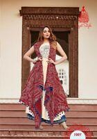 Indian Bollywood Designer indo western gown Kurta Kurti women ethnic dress -tg02