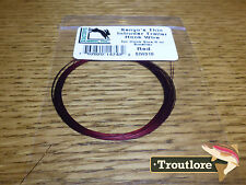 RED HARELINE SENYO'S THIN INTRUDER TRAILER HOOK WIRE NEW ARTICULATED FLY TYING
