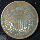 1866 Two Cent Piece, Very Fine+ Condition, Civil War Era, Free Shipping, C5481 for sale