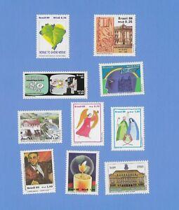 BRASILIEN  1989  - postfrisch**MNH - kleines Lot Einzelmarken (10 Werte)