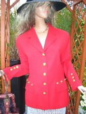 LUXUS Escada COUTURE Blazer klassiker rot NP1180,-jacket 38/40/42 STATEMENT gold
