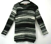 Elsamanda Women's Size Medium Made in Italy Long Sleeve Wool Blend Knit Sweater