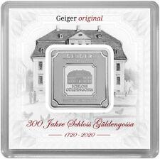 300 Jahre Schloß Güldengossa Geiger Original 1 OZ Silberbarren nur **300** Stück