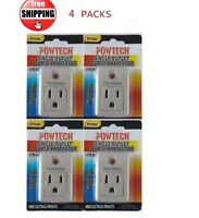 Single Surge Protector With Power Suppressor 4pc Joules Outlet - 270 Joules