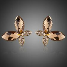 Butterfly 18K GP Gold Made With Swarovski Element Crystal Stud Earrings E194-17