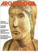 ARCHEOLOGIA N°160 ART MOSAN / ARABIE ANTIQUE / ARCHEO A VALENCIENNES / L'ENCENS