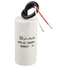2-Wired Cord 30uF 450VAC 50 / 60Hz CBB60 del motore Start Run condensatore I1N8