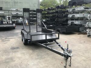 8x5 EXCAVATOR TRAILER   PLANT TRAILER   3200kg GVM   2X DROP DOWN RAMPS