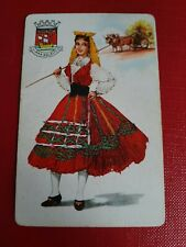 playing cards swap,  One card , Spanish lady in traditional dress.