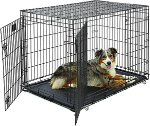 Life Stages LS-1642DD Double Door Folding Crate for Large Dogs71 - 90lbs