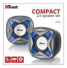 NEW TRUST 21182 XILO 2.0 8W MAX 4W RMS USB POWERED SPEAKER SET, MINOR BOX MARK