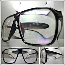 926f816d88 Clásico Estilo Retro Vintage Lente Transparente Gafas Square Negro Moda  Armazón