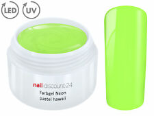 UV LED Farbgel NEON PASTEL HAWAII French Color Gel Modell Design Nagel Grün Tips