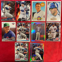 2017-2019 ANTHONY RIZZO ASSORTED TOPS PANINI DK BOWMAN CHICAGO CUBS LOT10