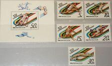 RUSSIA SOWJETUNION 1988 5840-44 Block 204 5680-5685 Olympics Seoul Sports MNH