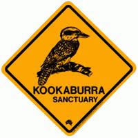 48x48mm Kookaburra Road Sign Magnet