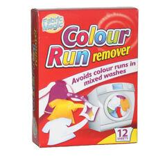 12 Sheet Colour Run Remover Catcher Sachets Mixed Clothes Washing Fabric